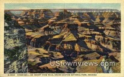 Sheer Wall - Grand Canyon National Park, Arizona AZ Postcard