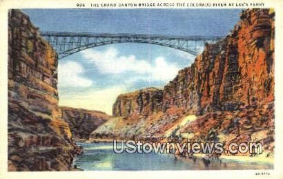 Lee's Ferry Bridge - Grand Canyon National Park, Arizona AZ Postcard