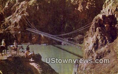 Kaibaba Suspension Bridge - Grand Canyon National Park, Arizona AZ Postcard