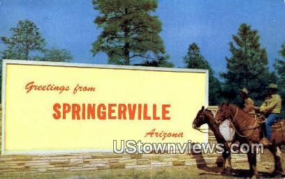 . - Springerville, Arizona AZ Postcard