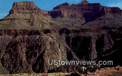 Inner Canyon, Kaibab Trail - Grand Canyon National Park, Arizona AZ Postcard