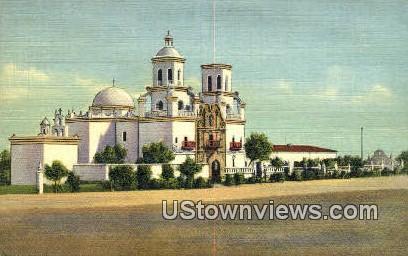 Old Mission San Xavier Del Back - Tucson, Arizona AZ Postcard