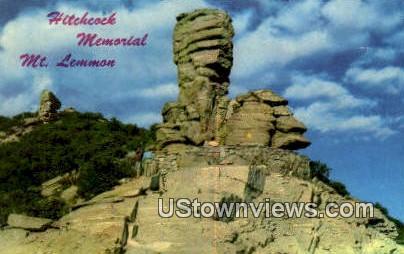 Hitchcock Memorial Tablet - Tucson, Arizona AZ Postcard