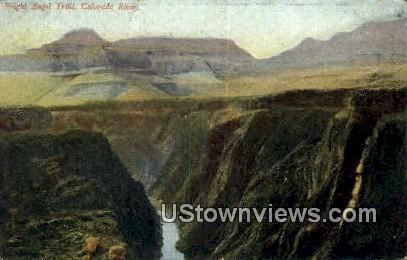 Bright Angel Trail - Colorado River, Arizona AZ Postcard