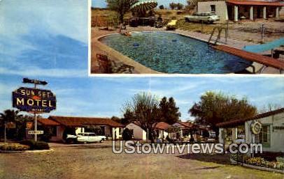 Sunset Motel - Tucson, Arizona AZ Postcard
