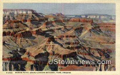 Moran Point - Grand Canyon National Park, Arizona AZ Postcard