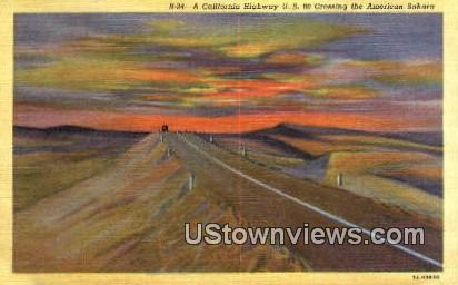 Highway US 80 - Misc, Arizona AZ Postcard