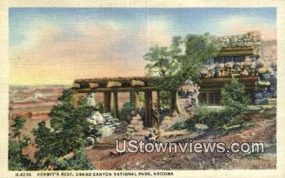 Hermit's Rest - Grand Canyon National Park, Arizona AZ Postcard