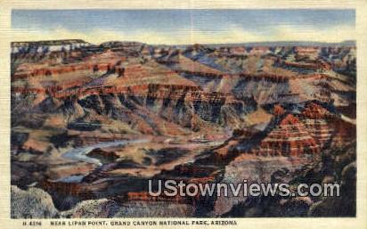 Lipan Point - Grand Canyon National Park, Arizona AZ Postcard