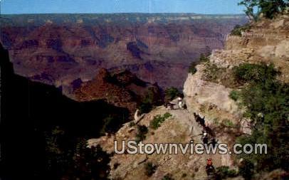 Battleship Rock & Bright Angel Trail - Grand Canyon National Park, Arizona AZ Postcard