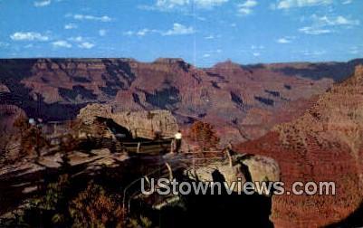 Lookout & Mather Point - Grand Canyon National Park, Arizona AZ Postcard