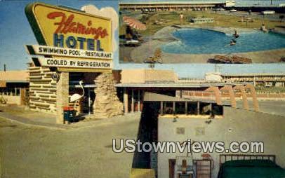 Flamingo Hotel - Yuma, Arizona AZ Postcard