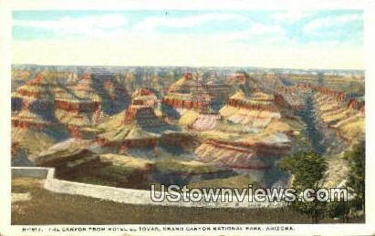 Canyon, Hotel El Tovar - Grand Canyon National Park, Arizona AZ Postcard