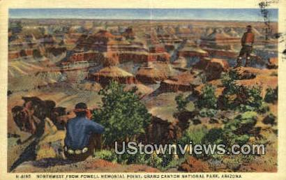 Powell Memorial Point - Grand Canyon National Park, Arizona AZ Postcard
