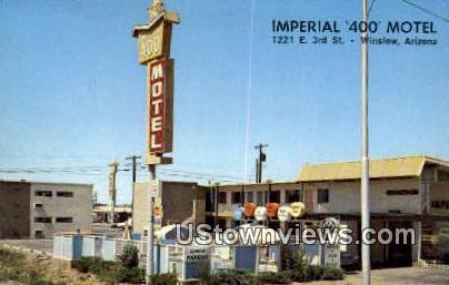 Imperial 400 Motel - Winslow, Arizona AZ Postcard
