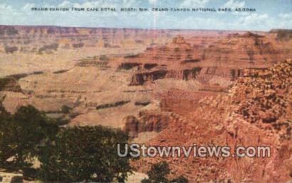 Cape Royal - Grand Canyon National Park, Arizona AZ Postcard