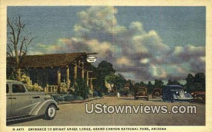 Bright Angel Lodge - Grand Canyon National Park, Arizona AZ Postcard