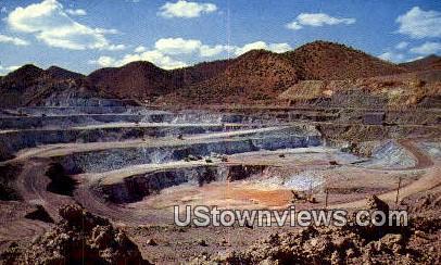Lavender Open Pit Copper Mine - Bisbee, Arizona AZ Postcard
