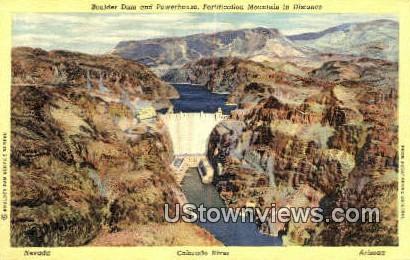 Boulder Dam - Colorado River, Arizona AZ Postcard