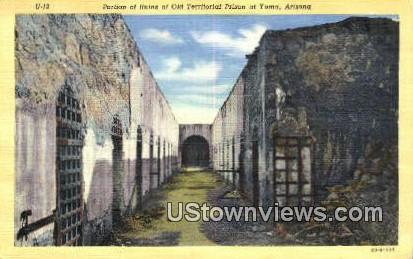 Old Territorial Prison - Yuma, Arizona AZ Postcard