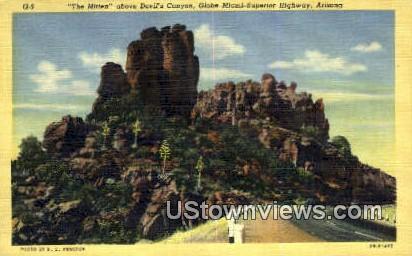 The Mitten, Devil's Canyon - Devils Canyon, Arizona AZ Postcard