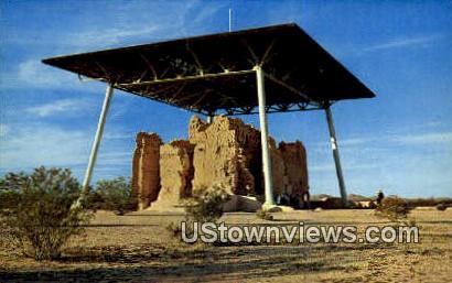 Casa Grande Ruins - Coolidge, Arizona AZ Postcard
