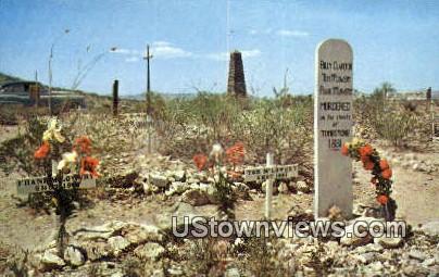 Graves of Billy Clanton - Tombstone, Arizona AZ Postcard