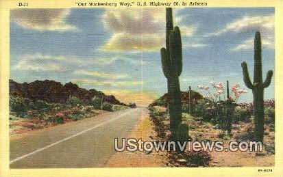 Wickenburg Way - Arizona AZ Postcard