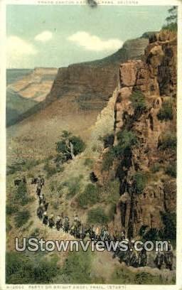 Bright Angel Trail - Grand Canyon National Park, Arizona AZ Postcard