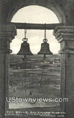 The Bells, San Xavier Mission - Tucson, Arizona AZ Postcard