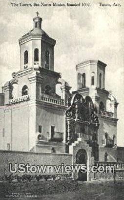Towers, San Xavier Mission, 1692 - Tucson, Arizona AZ Postcard
