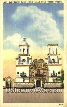 Old Mission, San Xavier Del Bac - Tucson, Arizona AZ Postcard