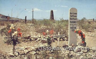 Graves of Clanton, McLowery McLowery - Tombstone, Arizona AZ Postcard