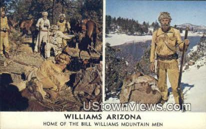 Home of Bill Williams Mountain men - Arizona AZ Postcard