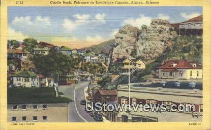 Castle Rock, Tombstone Canyon - Bisbee, Arizona AZ Postcard