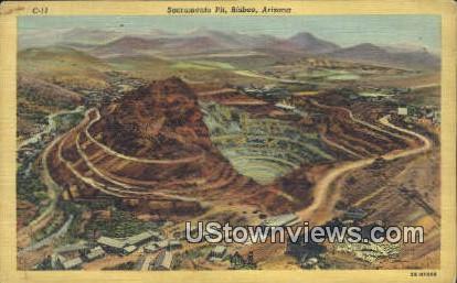 Sacramento Pit - Bisbee, Arizona AZ Postcard