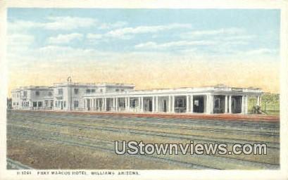 Fray Marcos Hotel - Williams, Arizona AZ Postcard