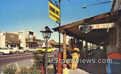 Brown Ave - Old Scottsdale, Arizona AZ Postcard