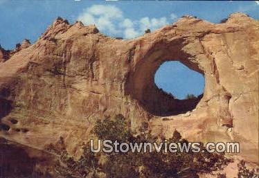Window Rock, AZ,     ;       Window Rock, Arizona Postcard