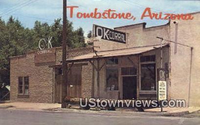 Ok Corral - Tombstone, Arizona AZ Postcard