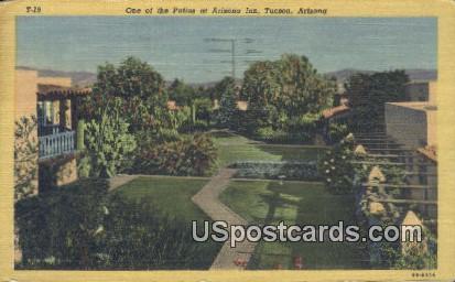 Patios, Arizona Inn - Tucson Postcard