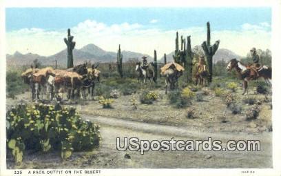 A Pack Outfit - Misc, Arizona AZ Postcard
