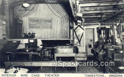 Interior Bird Cage Theater - Tombstone, Arizona AZ Postcard