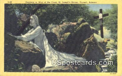 Cross, St Joseph's Shrine - Yarnell, Arizona AZ Postcard