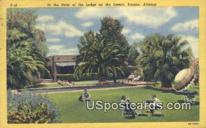 Patio, Lodge on the Desert - Tucson, Arizona AZ Postcard