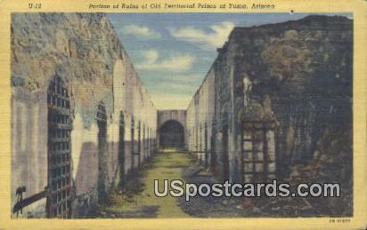 Ruins, Old Territorial Prison - Yuma, Arizona AZ Postcard