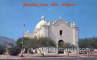 Immaculate Conception Church - Ajo, Arizona AZ Postcard
