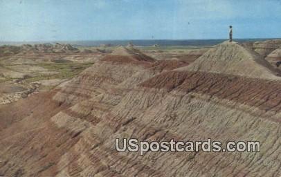 Badlands National Monument - White River Valley, Arizona AZ Postcard
