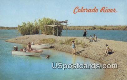 Colorado River, AZ Postcard     ;     Colorado River, Arizona