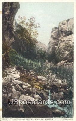 Little Colorado Canyon - Winslow, Arizona AZ Postcard